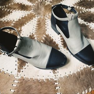 Modern Vice Cap Toe Ankle Strap Boots - Size 8.5